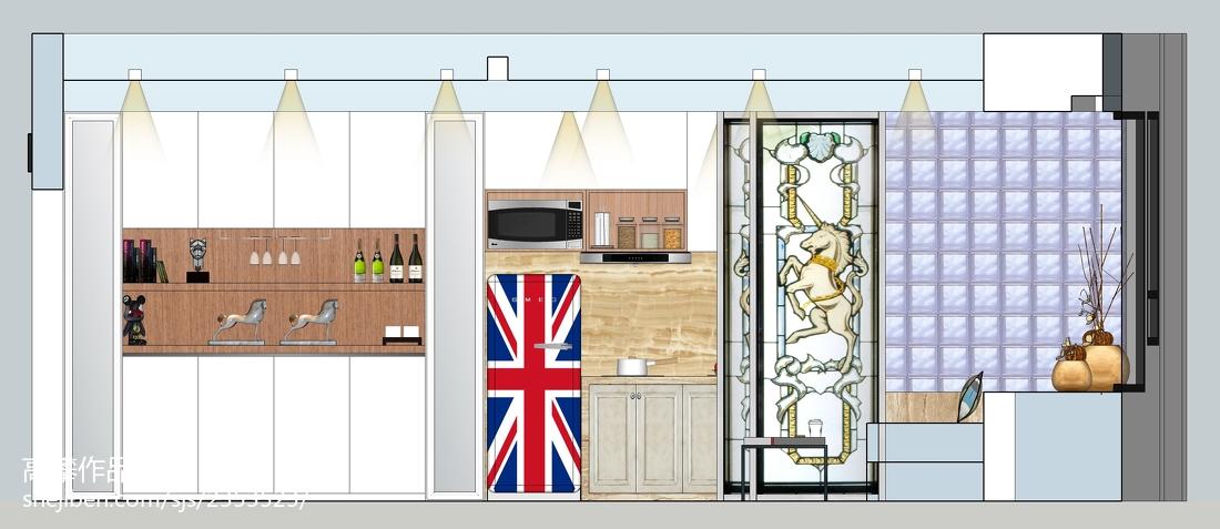 开放式厨房吊顶装修效果图