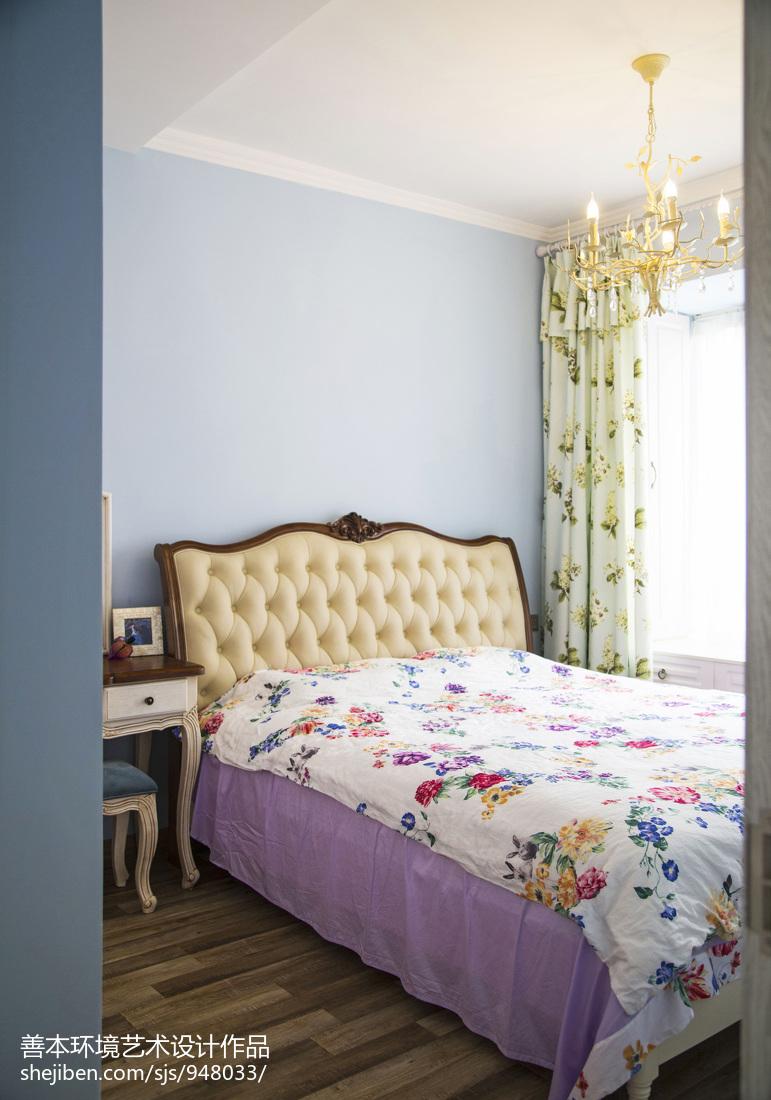精选108平方三居卧室美式装修实景图