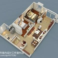 简美式风格二居室门厅装修效果图