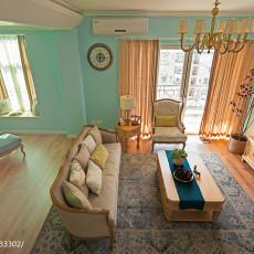 93.6平热门混搭客厅装修设计效果图片欣赏