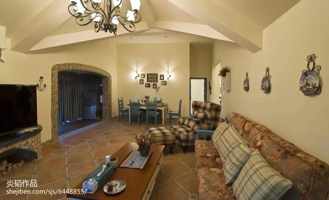 精美面积134平别墅客厅地中海装修实景图