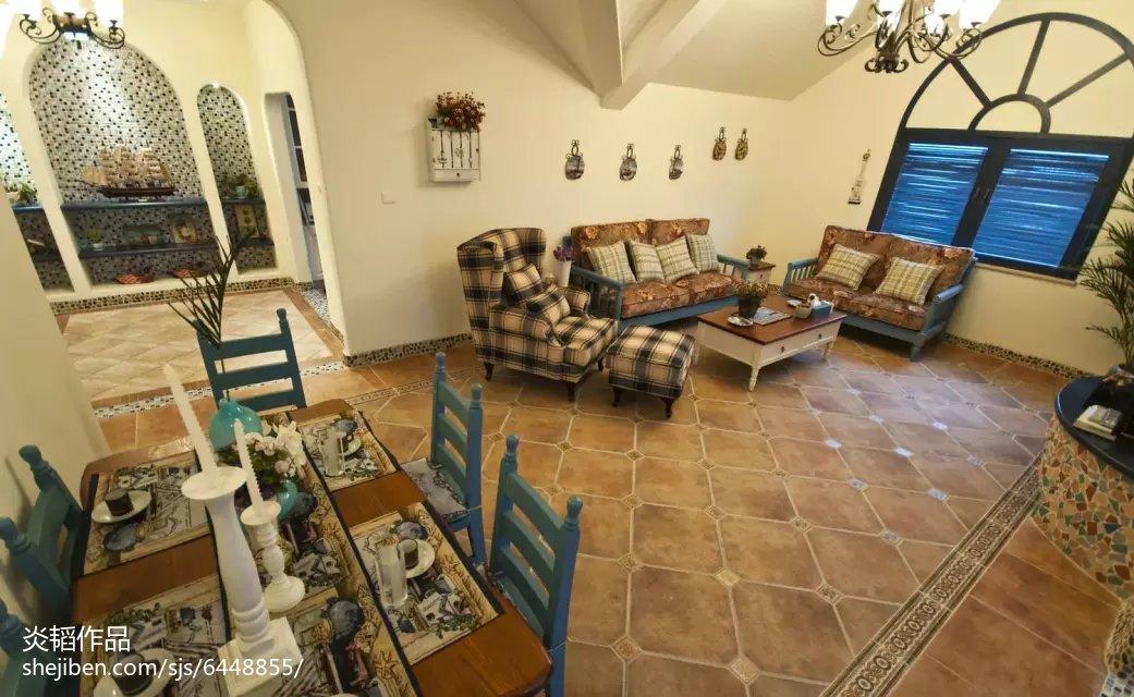 121平米地中海别墅客厅装修图片大全
