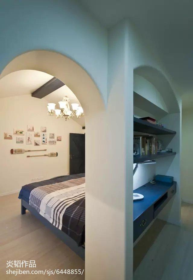 热门面积113平别墅卧室地中海装修图片欣赏