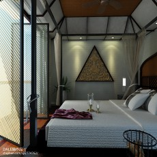 东南亚二居卧室装修设计效果图片大全