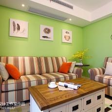 精选105平米三居客厅现代装修实景图片大全