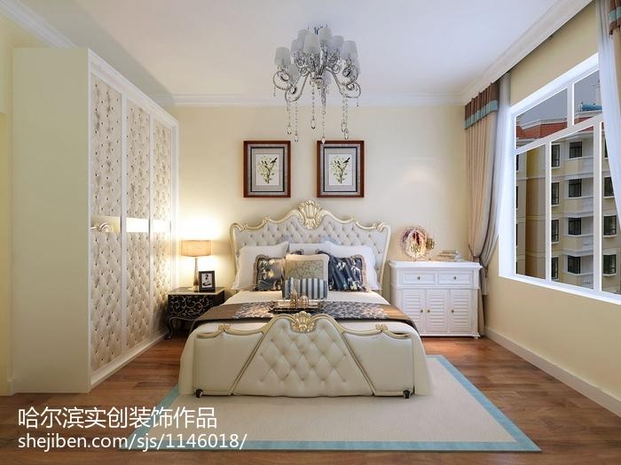 78平米二居卧室美式装修效果图片大全