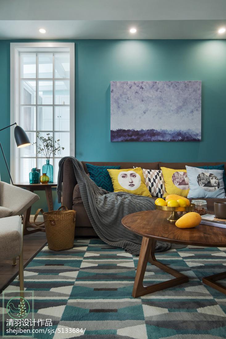 精选99平米三居客厅北欧效果图片