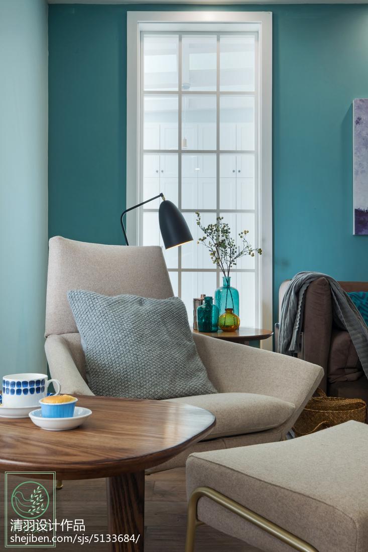 精美93平方三居客厅北欧装饰图片