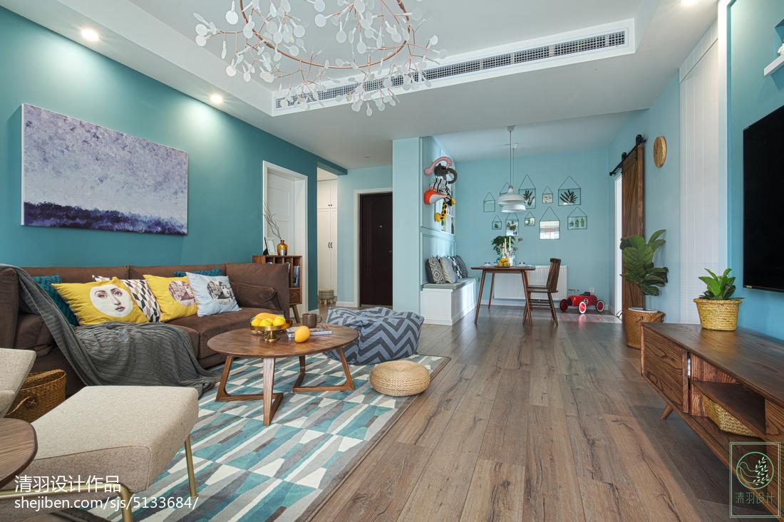 热门104平米三居客厅北欧欣赏图片