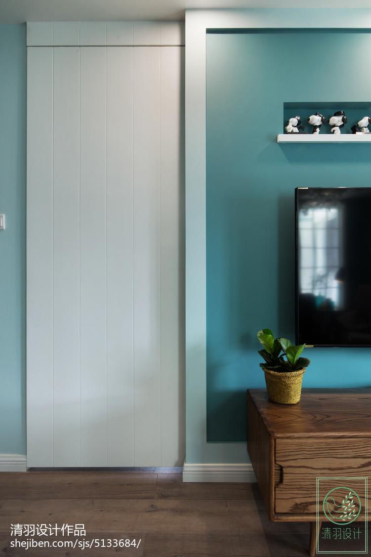 精选面积92平北欧三居客厅装修实景图片欣赏