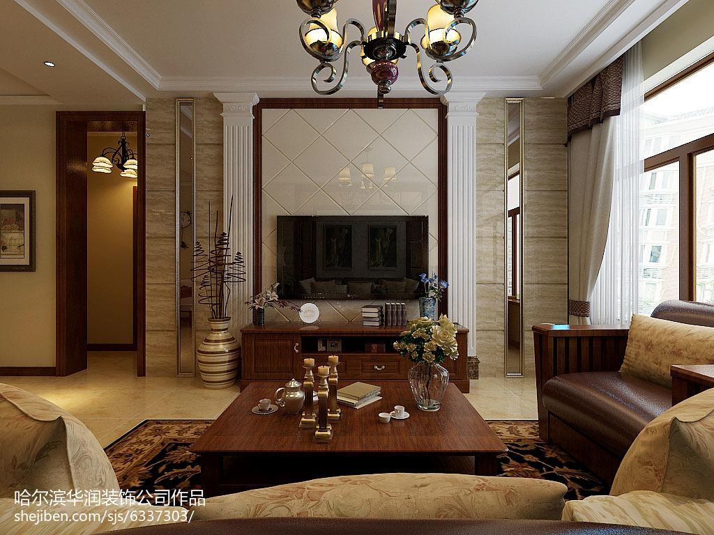 精美面积78平美式二居装修欣赏图片