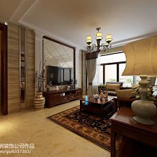 面积70平美式二居客厅设计效果图