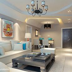 精美二居客厅简约装饰图
