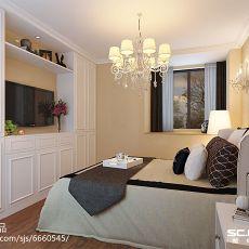 精美面积89平美式二居卧室设计效果图
