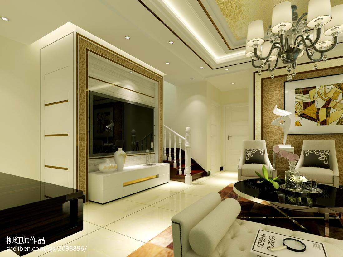 复式客厅简约设计效果图