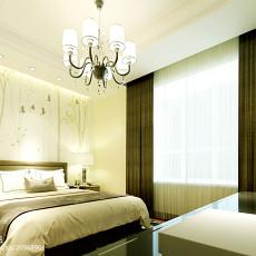 面积110平复式卧室简约实景图
