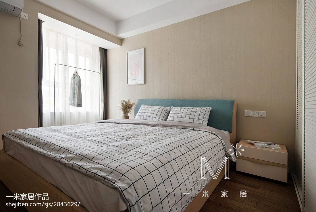 2018精选面积87平混搭二居卧室装修效果图