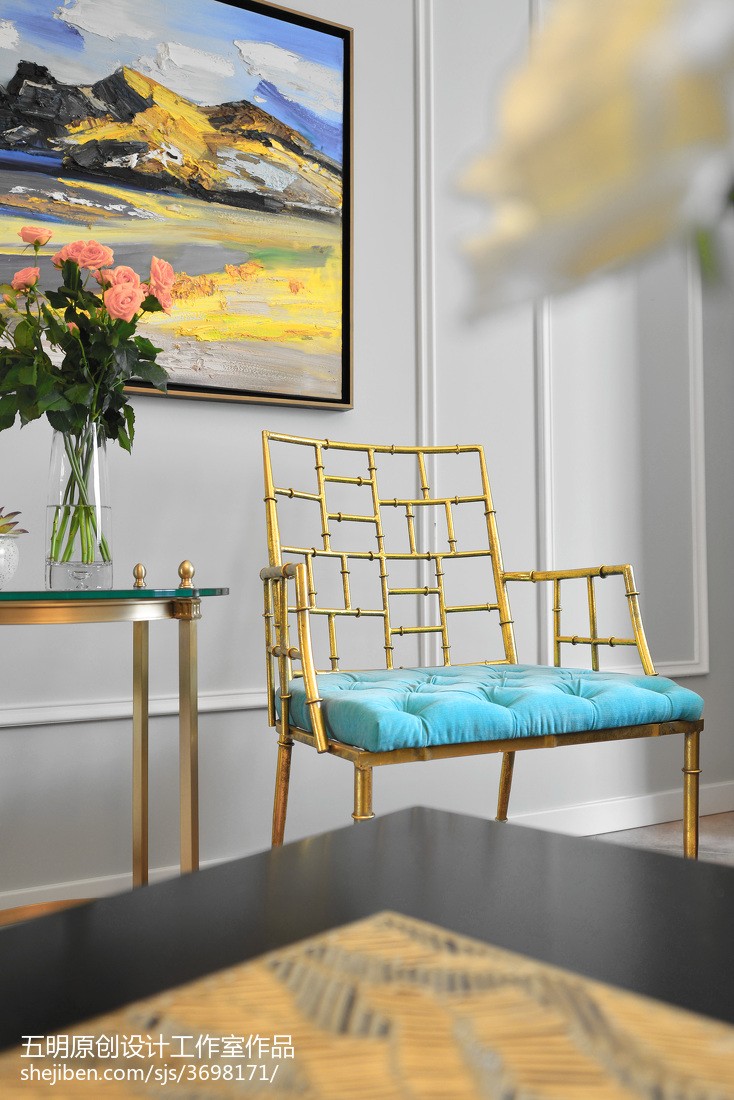 热门美式三居客厅装修实景图片大全