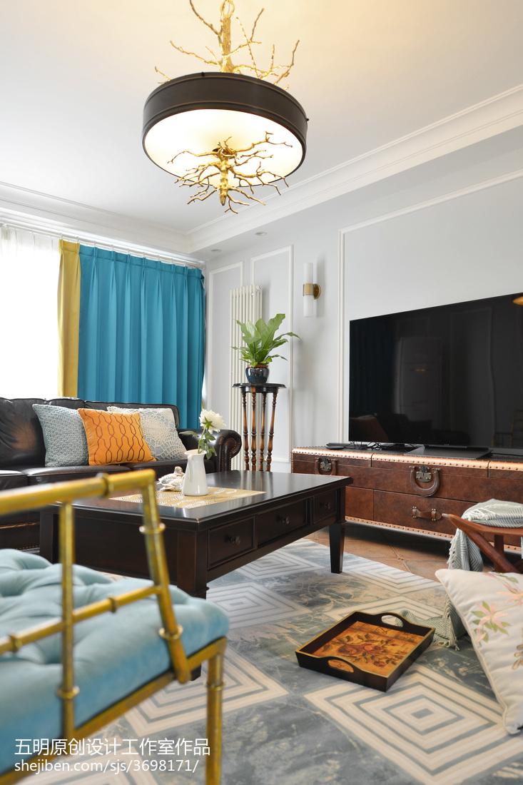 精选97平方三居客厅美式装饰图片欣赏