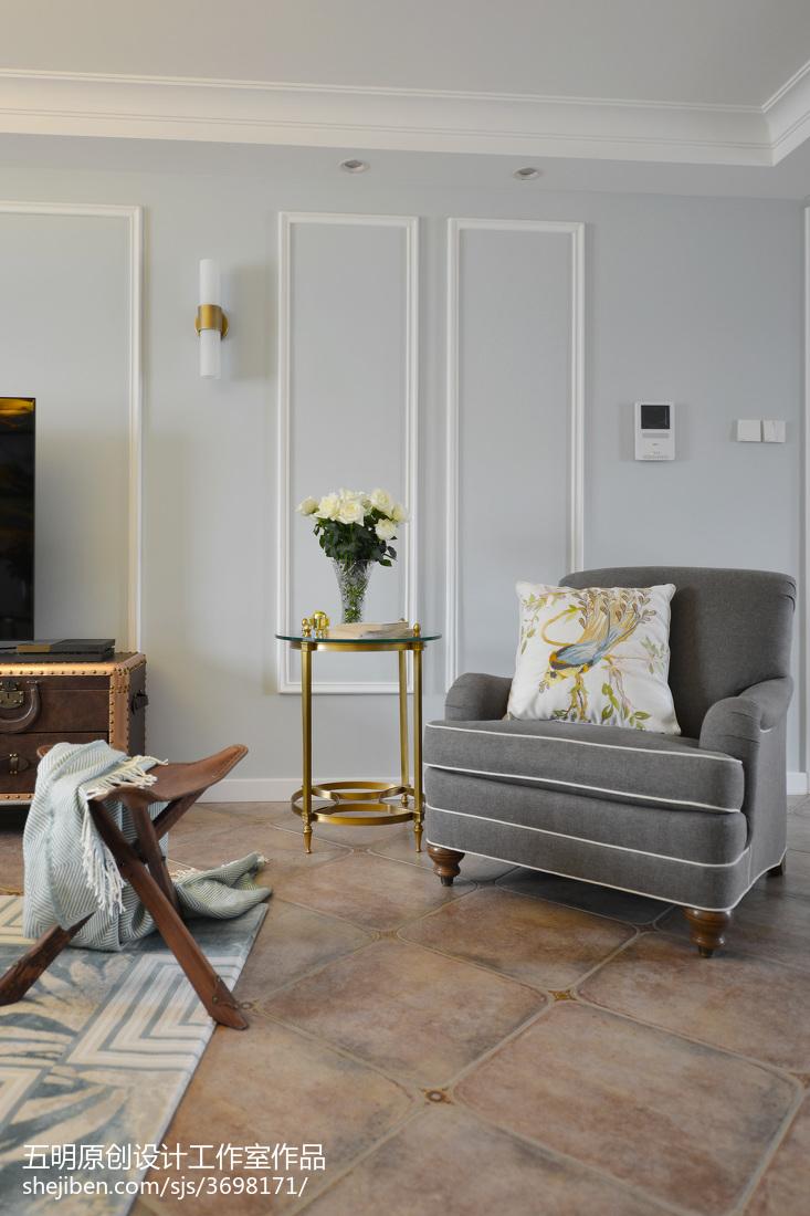 精美91平米三居客厅美式装修图片大全