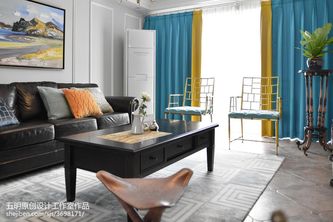 热门大小109平美式三居客厅装饰图片欣赏