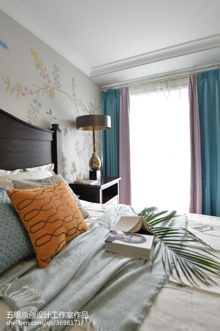 精选108平米三居卧室美式装修图片欣赏
