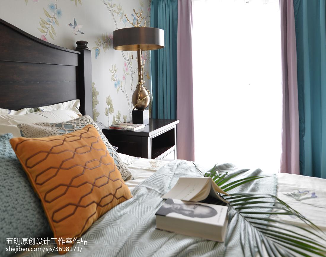 精美面积108平美式三居卧室装修设计效果图片欣赏
