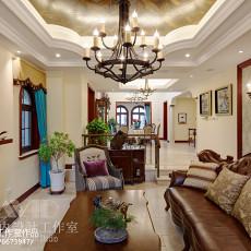 热门面积143平别墅客厅美式实景图片欣赏