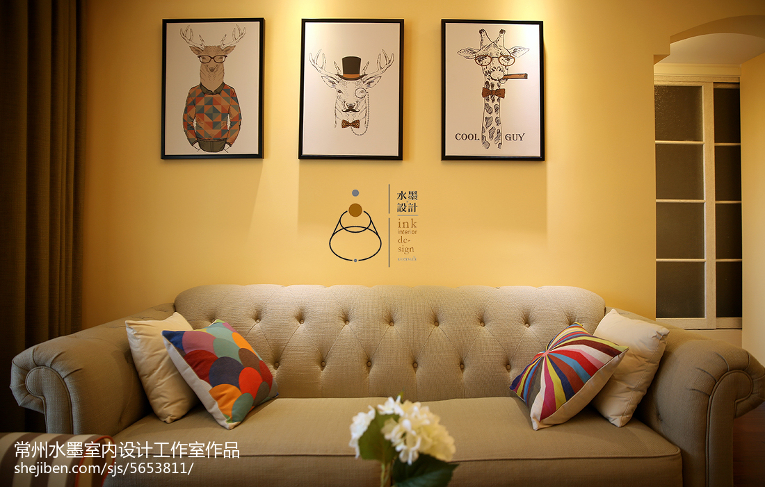 精选美式小户型客厅效果图