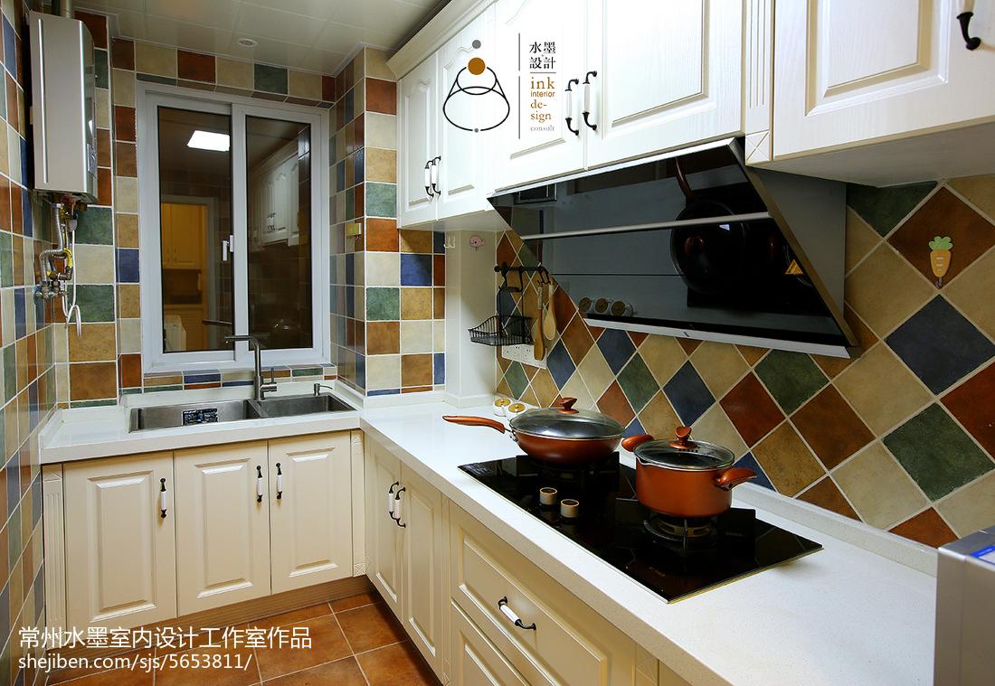 简洁26平美式小户型厨房装饰图