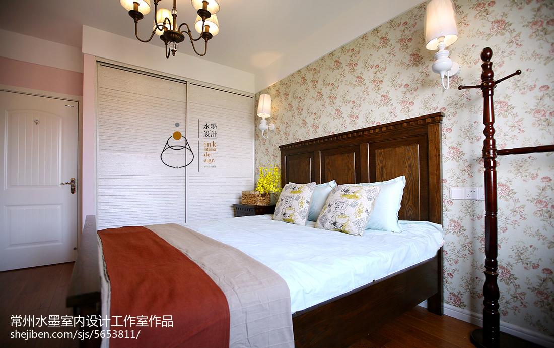 热门面积85平小户型卧室美式装修设计效果图片大全