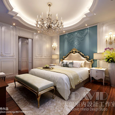 热门130平米欧式别墅卧室装修设计效果图