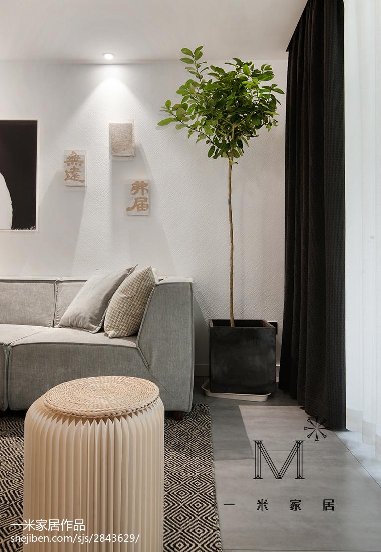 精美84平米二居客厅北欧装修实景图片欣赏