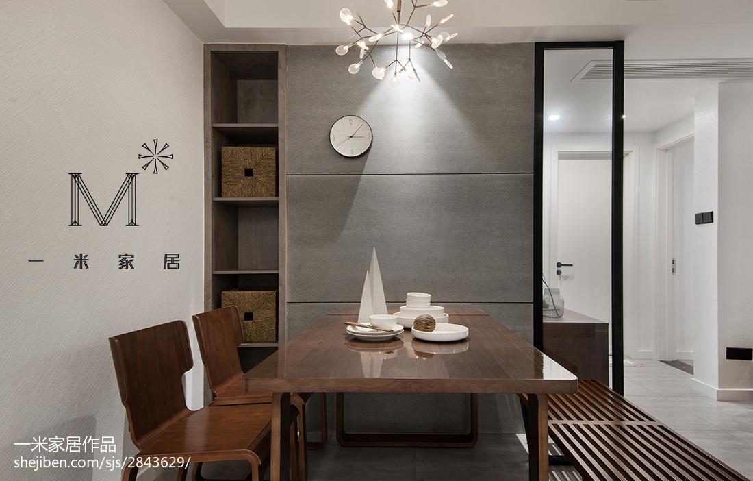 热门85平米二居餐厅北欧装修效果图片欣赏