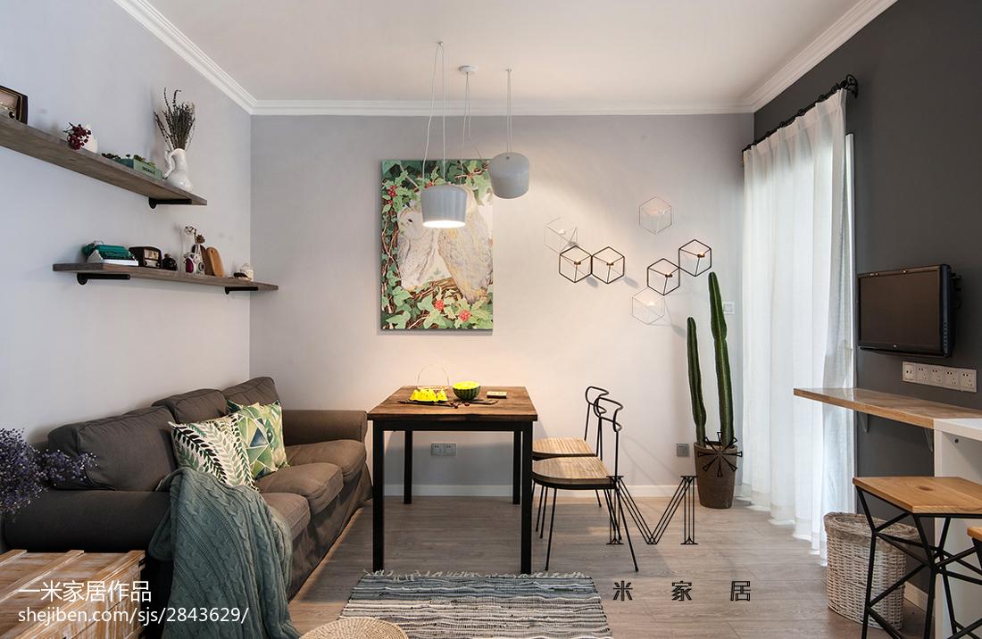 精美38平北欧小户型客厅装饰图