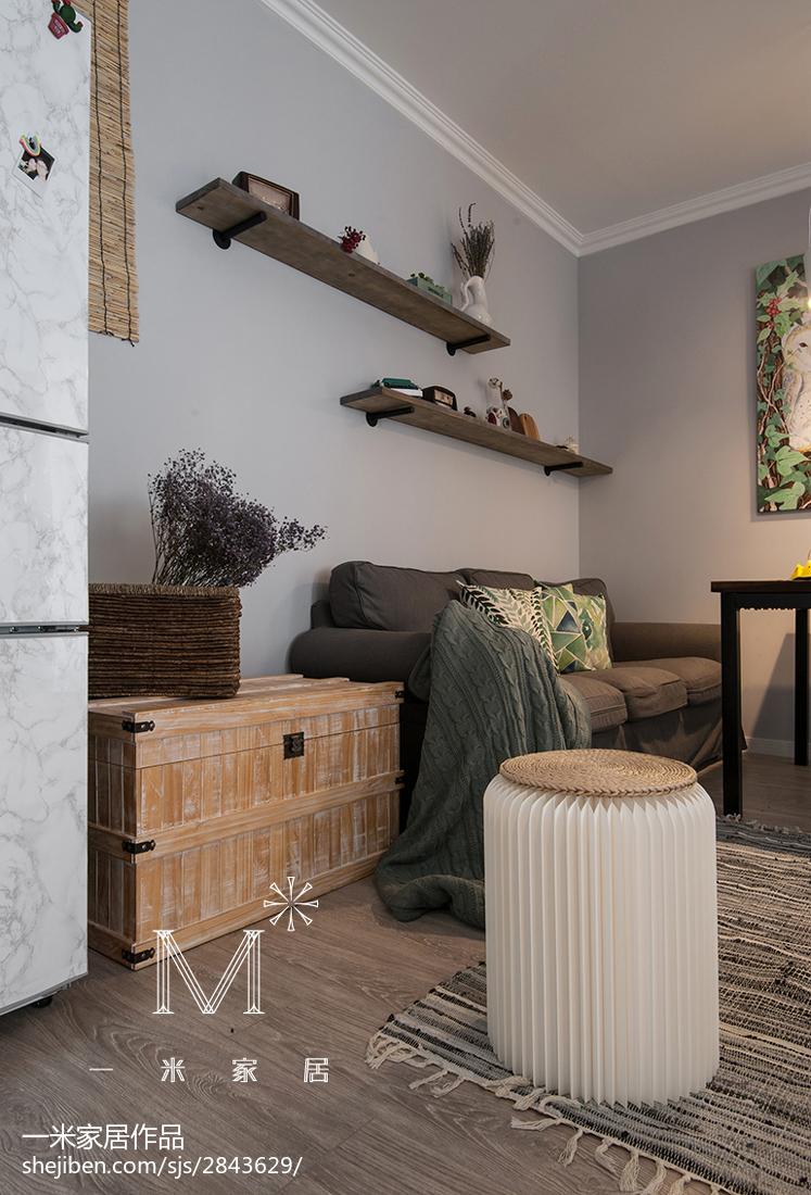 2018精选79平米北欧小户型客厅效果图片欣赏