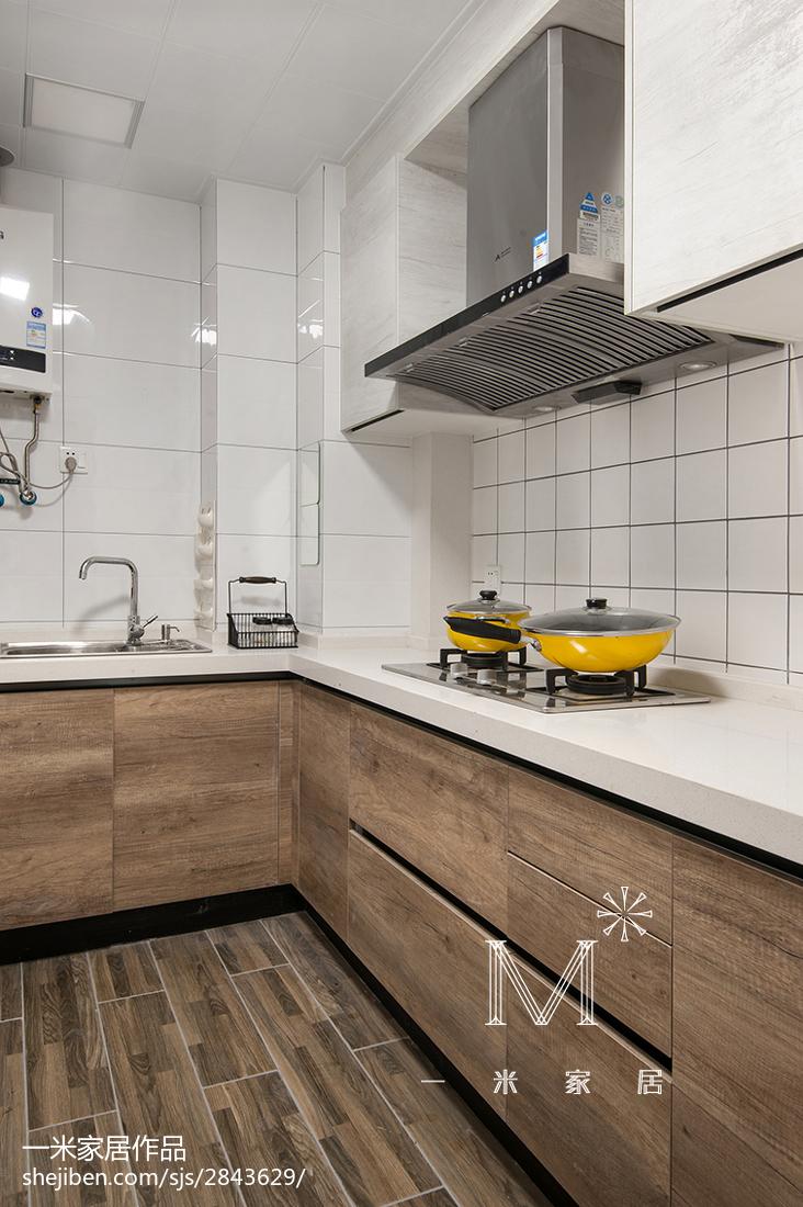 热门面积85平小户型厨房北欧实景图片大全