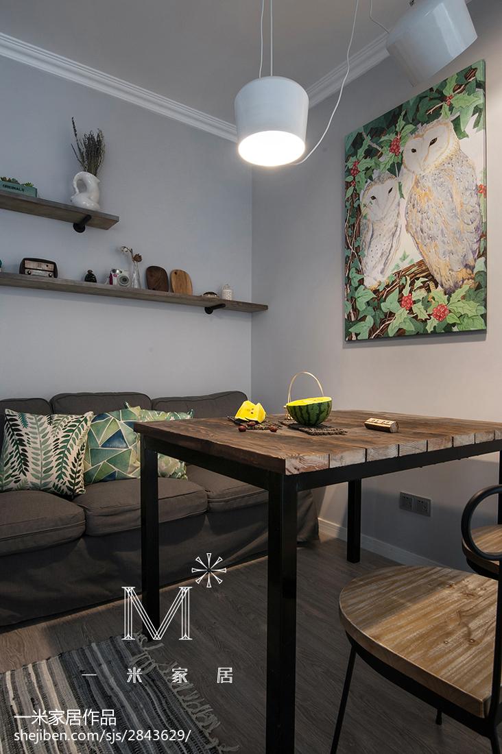 热门89平米北欧小户型客厅装修实景图片欣赏