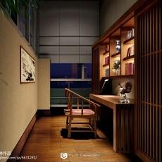 精美中式别墅书房装修设计效果图