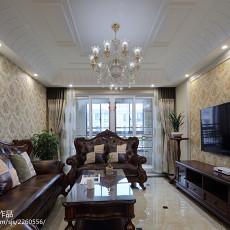 精美98平米三居客厅简欧装修设计效果图