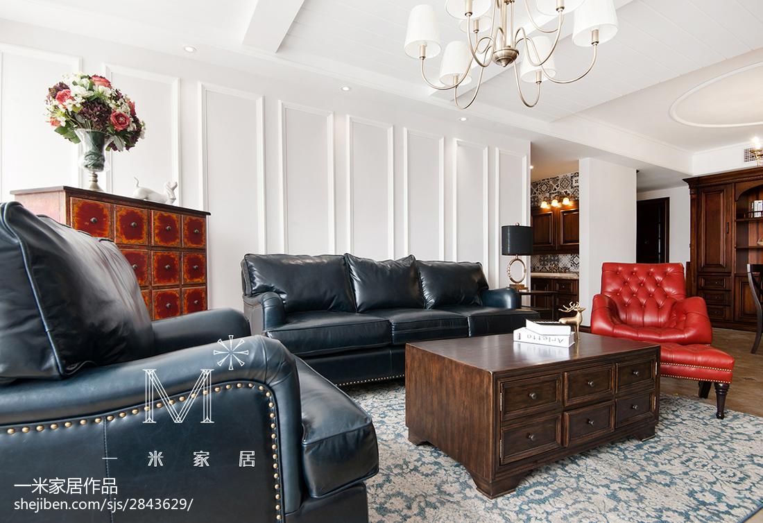 面积70平美式二居客厅装修欣赏图片