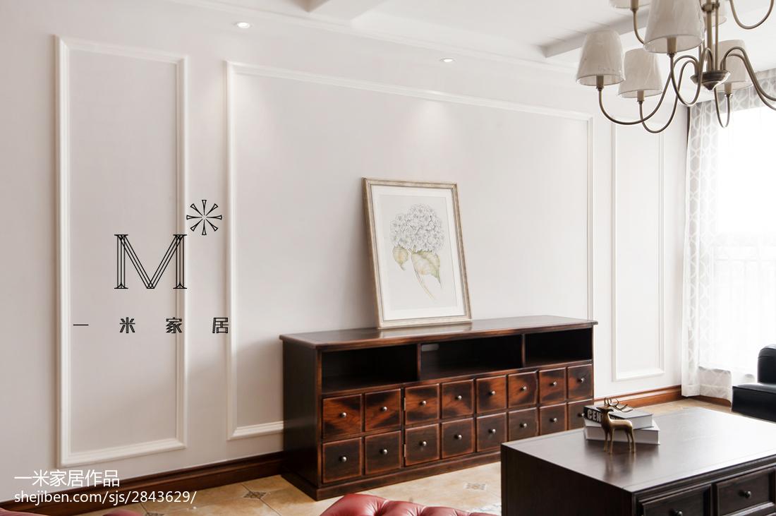 精选79平米二居客厅美式装修图