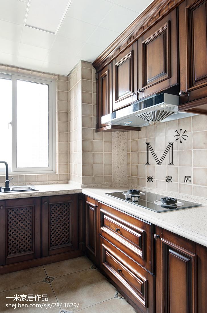 精选面积85平美式二居厨房装修设计效果图