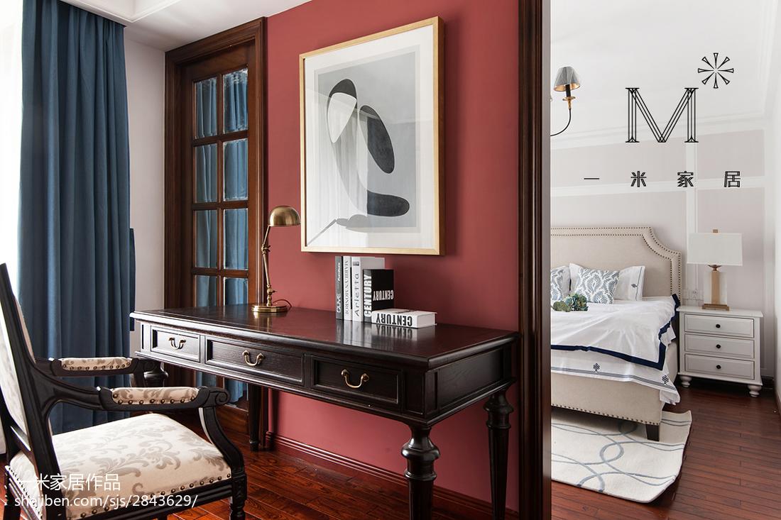 精美86平米二居卧室美式欣赏图片