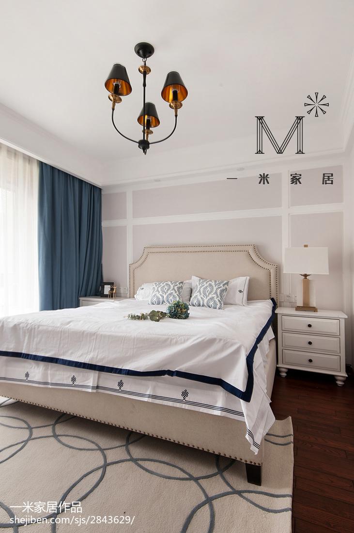 精美二居卧室美式装饰图