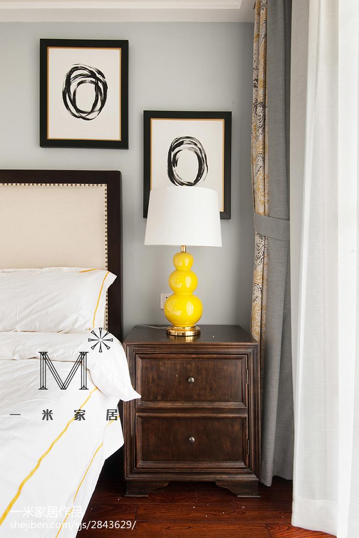 精美美式二居卧室装饰图片大全