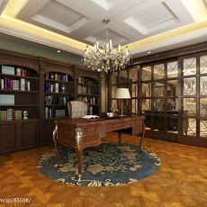 热门面积121平别墅书房欧式装修效果图片大全