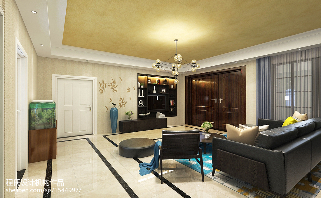 精美面积125平别墅客厅简约装修实景图片