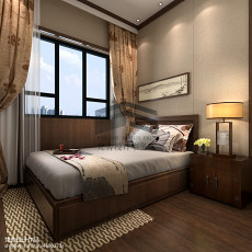 精美116平方四居卧室中式装饰图片