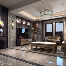 2018120平米四居客厅中式装修效果图片大全